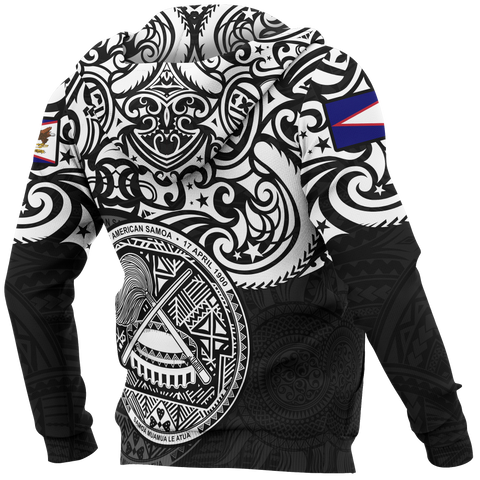 Image of American Samoa Hoodie - National Pride (White)