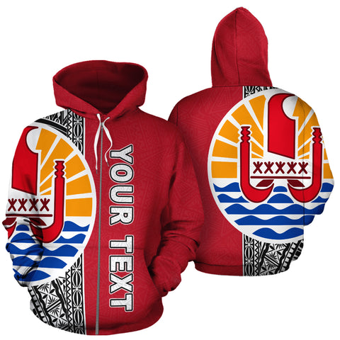 Tahiti Personalised Custom Zip-Up Hoodie, French Polynesia Personalised Custom Zip-Up Hoodie, Polynesian, Tahiti clothing, Polynesian clothing,  French Polynesia clothing, Polynesian Personalised Custom Zip-Up Hoodie