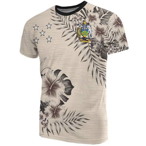Solomon Islands T-Shirt The Beige Hibiscus Front