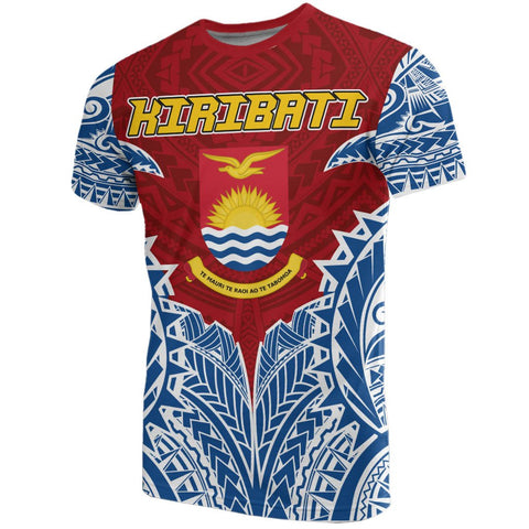 Image of Kiribati Premium T-Shirt - Kiribati Coat Of Arms Polynesian Tattoo - A7 1ST