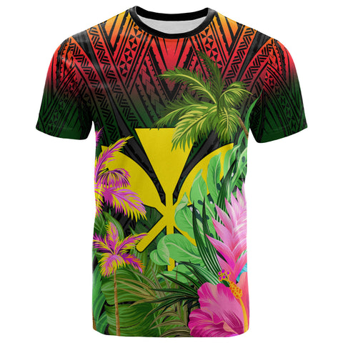 Hawaii T-Shirt Reggae - Hibiscus Coconut