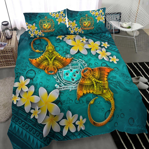 Samoa Polynesian Bedding Set - Manta Ray Ocean - BN12