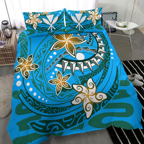 Hawaii Bedding Set - Spring style Blu Color - BN20