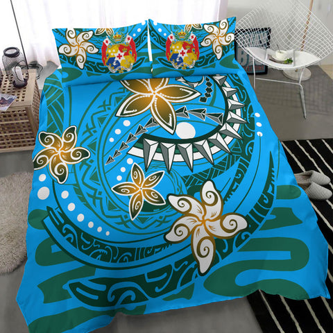 Image of Tonga Polynesian Bedding Set - Spring style Blu Cooler - BN20