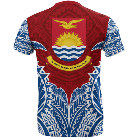 Kiribati Premium T-Shirt - Kiribati Coat Of Arms Polynesian Tattoo - A7 1ST