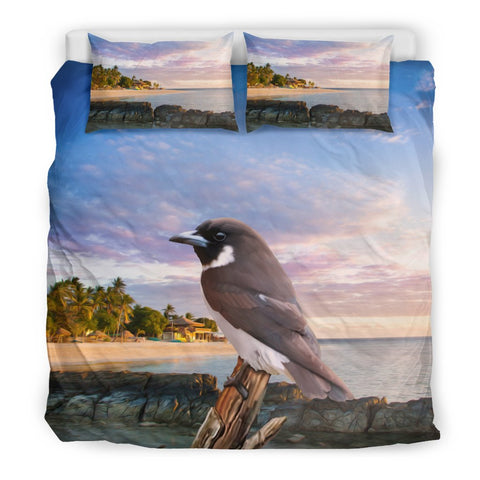 Fiji Woodswallow Bird Duvet Cover