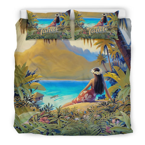 French Polynesia Tahiti Bedding Set K5