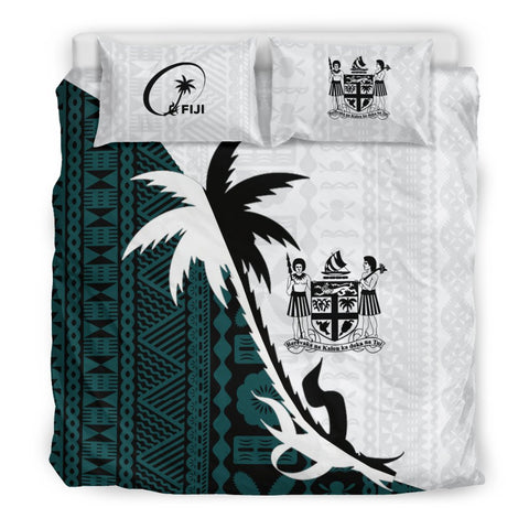Image of Fiji Coconut Tree Bedding Set - Coat Of Arms K4