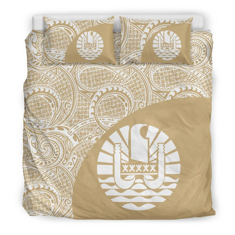 Image of Tahiti Polynesian Bedding Sets Coat Of Arms - Wave Style