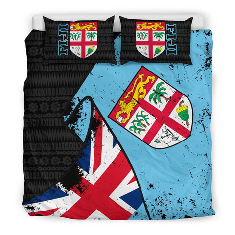 Fiji Special Grunge Flag Bedding Set King