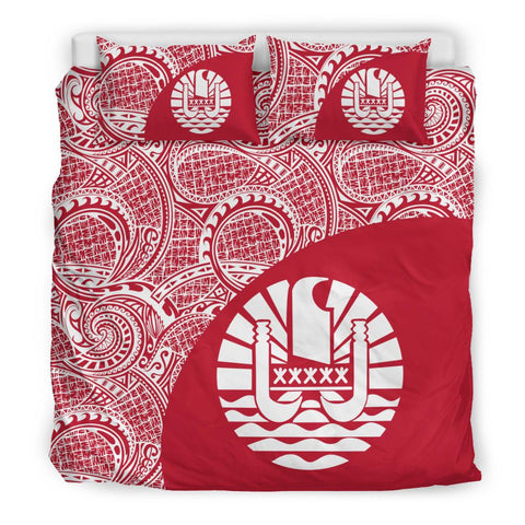 Image of Tahiti Polynesian Bedding Set Coat Of Arms
