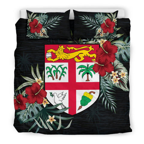 Fiji Hibiscus Coat Of Arms Bedding Set King