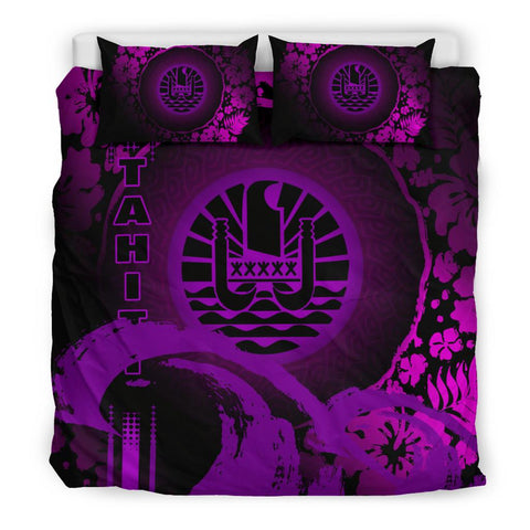 Tahiti Bedding Set - Hibiscus And Wave Purple K6