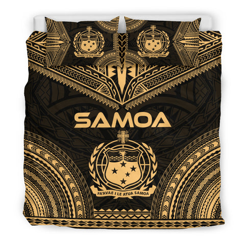 Samoa Polynesian Chief Duvet Cover Set - Gold Version - Bn10