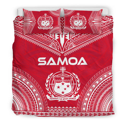 Samoa Flag Polynesian Chief Duvet Cover Set - Bn10