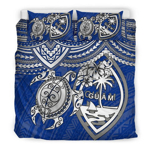 Guam Polynesian Bedding Set - White Turtle - BN1518