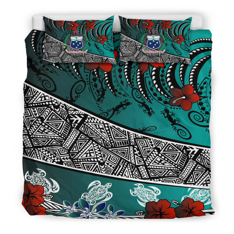 Samoa Bedding Set - Lizard And Turtle Green - BN20