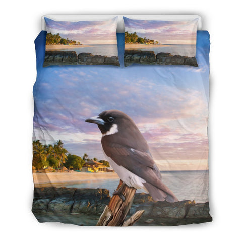 Fiji Woodswallow Bird Duvet Cover K7