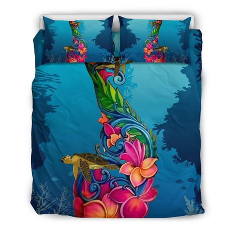 Image of Fiji Bedding Sets - Fiji Under Water With Turtle Hibiscus