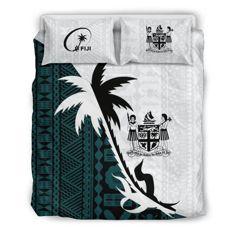 Fiji Coconut Tree Bedding Set - Coat Of Arms