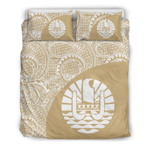 Image of Tahiti Polynesian Bedding Sets Coat Of Arms - Wave Style 2 Th95