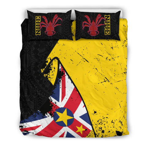 Niue Special Grunge Flag Bedding Set Twin