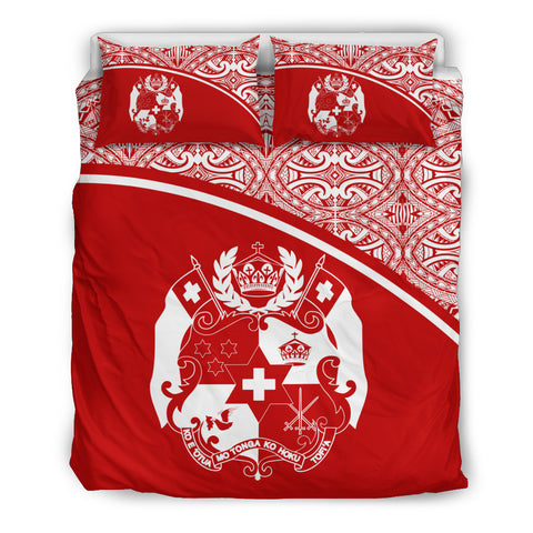 Tonga Duvet Cover Set - Red Curve Style - BN09