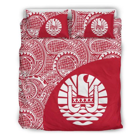 Image of Tahiti Polynesian Bedding Set Coat Of Arms Th5