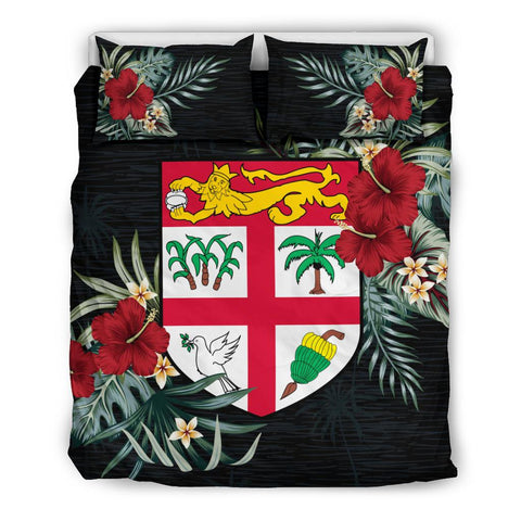 Fiji Hibiscus Coat Of Arms Bedding Set Twin