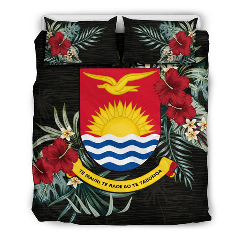 Kiribati Hibiscus Coat Of Arms Bedding Set Twin