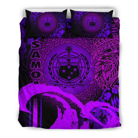 Image of Samoa Bedding Set - Hibiscus And Wave Purple