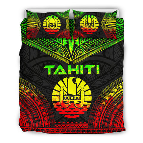 Tahiti Polynesian Chief Bedding Set - Reggae Version, Polynesian Print Duvet Cover
