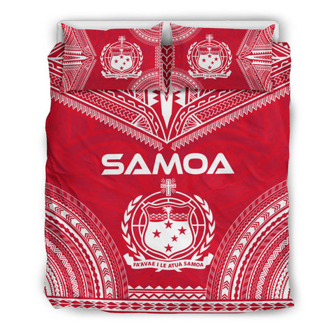 Samoa Flag Polynesian Chief Duvet Cover Set, Polynesian Print Duvet Cover