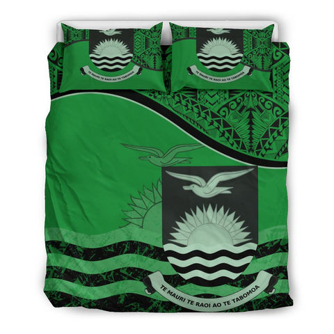 Kiribati Bedding Set Green Queen