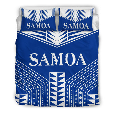 Samoa Coat of Arms Bedding Set - Blue Version - BN12
