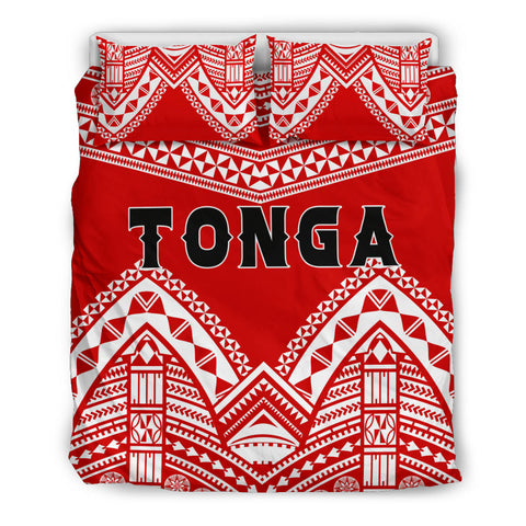 Image of Tonga Polynesian Tribal Pattern Bedding Set - BN12