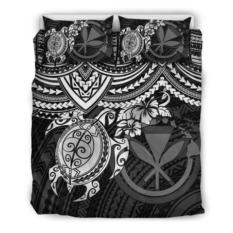 Polynesian Hawaii Bedding Set - White Turtle - BN1518