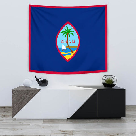 Image of Guam Flag Polynesian Tapestry