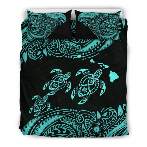 Hawaii Polynesian Bedding Set - Blue Sea Turtle - BN12
