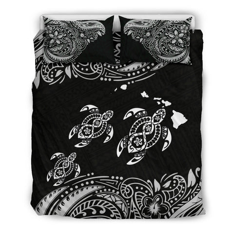 Hawaii Polynesian Bedding Set - White Sea Turtle - BN12
