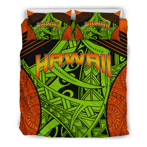Polynesian Bedding Set - Hawaii Duvet Cover Set Tribal Wave - BN12