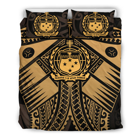 Samoa Polynesian Bedding Set - Samoa Gold Seal with Polynesian Tattoo - BN18