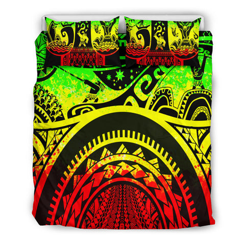 Polynesian Bedding set - Maui Tattoo (Reggae) - BN17
