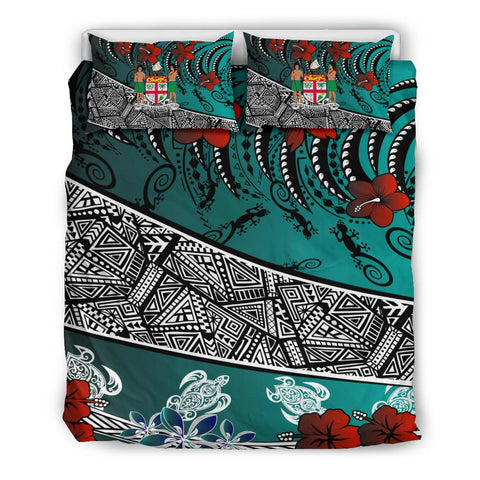 Fiji Bedding Set  - Lizard And Turtle Green - BN20