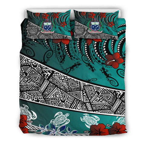 Image of Samoa Bedding Set - Lizard And Turtle Green - BN20