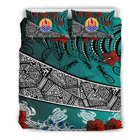 Image of Tahiti Bedding Set - Lizard And Turtle Green - BN20