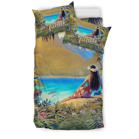 Image of French Polynesia Tahiti Bedding Set K5