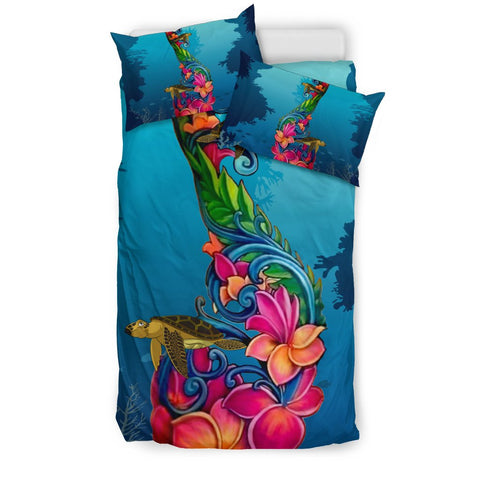 Image of Fiji Bedding Sets - Fiji Under Water With Turtle Hibiscus Nn8