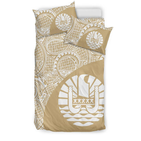 Tahiti Polynesian Bedding Sets Coat Of Arms - Wave Style 2 Th95