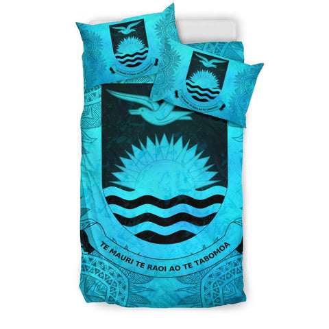 Kiribati Turquoise Bedding Set Queen
